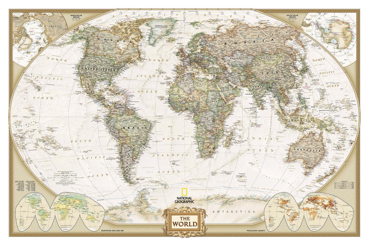 Old World Map 100 cotton canvas 25cm x 30cm 10 x 12 Hi Qualit