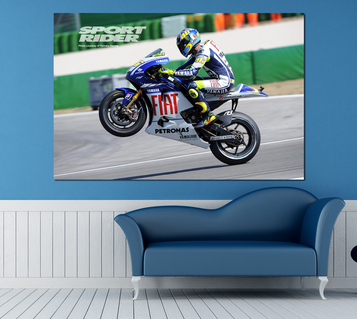 rossisports valentino rossi gagne misano moto gp poster wallart l xxl ebay. Black Bedroom Furniture Sets. Home Design Ideas